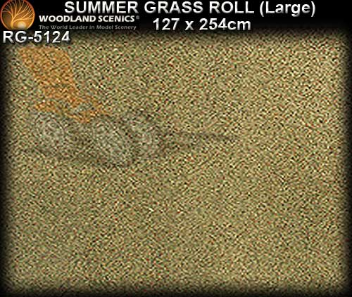 WOODLANDS SCENICS GRASS LARGE ROLL RG5124 - Summer Grass Roll