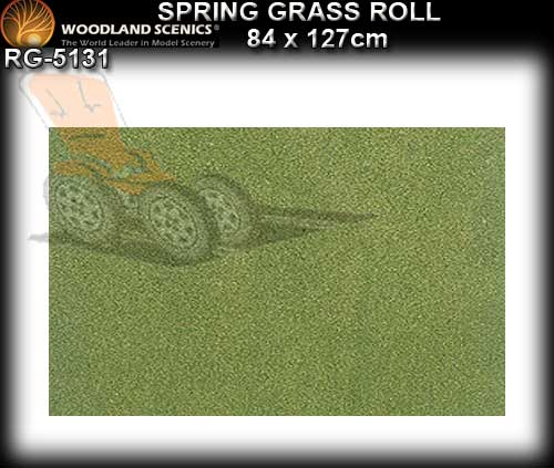 WOODLANDS SCENICS GRASS SMALL ROLL RG5131 - Spring Grass Roll