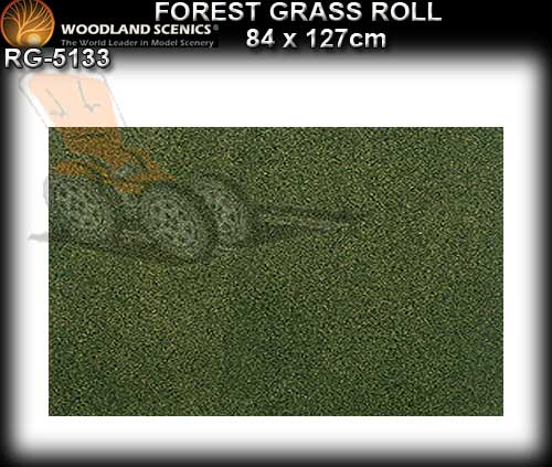 WOODLANDS SCENICS GRASS SMALL ROLL RG5133 - Forest Grass Roll