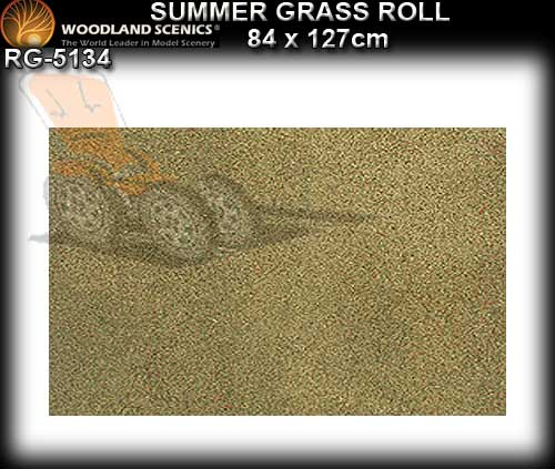 WOODLANDS SCENICS GRASS SMALL ROLL RG5134 - Summer Grass Roll
