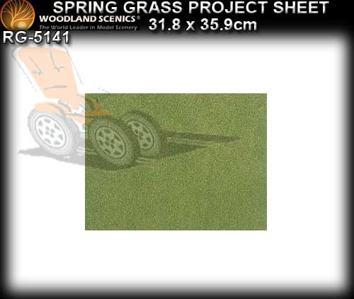 WOODLANDS SCENICS GRASS SHEET SMALL RG5141 - Spring Grass Sheet