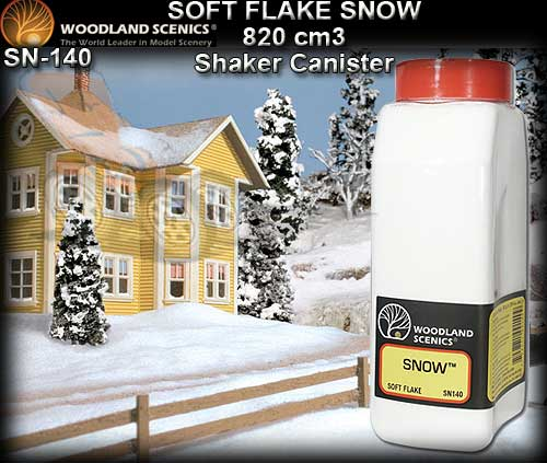 WOODLANDS SCENICS SNOW SN140 - Soft Flake Snow