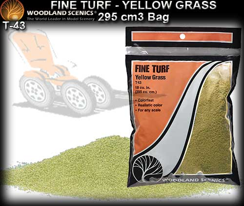 WOODLANDS SCENICS TURF T43 - Fine Turf - Yellow Grass