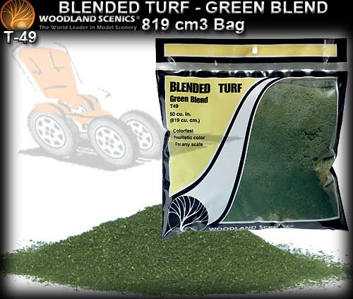 WOODLANDS SCENICS TURF T49 - Blended Turf - Green Blend