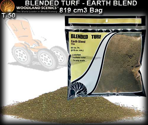 WOODLANDS SCENICS TURF T50 - Blended Turf - Earth Blend
