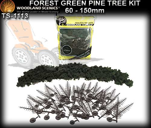 WOODLANDS SCENICS TREES TR1113 - 60-150mm Forest Pine Tree Kit