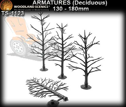WOODLANDS SCENICS TREES TR1123 - 130-180mm Deciduous Armatures