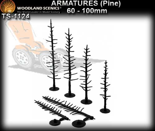 WOODLANDS SCENICS TREES TR1124 - 60-100mm Tree Armatures
