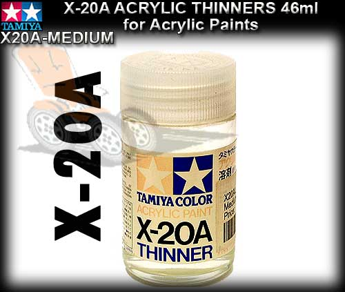 TAMIYA PAINT THINNERS X20A-M - 46ml Acrylic Paint Thinners