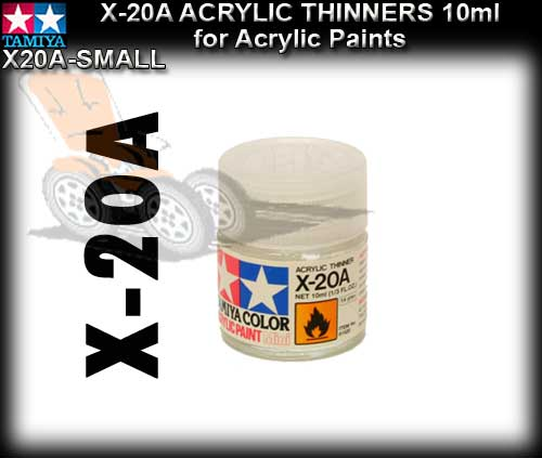 TAMIYA PAINT THINNERS X20A-S - 10ml Acrylic Paint Thinners