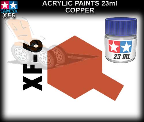 TAMIYA PAINT ACRYLIC XF6 - 23ml Copper Acrylic Paint
