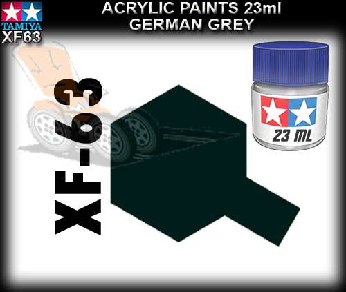 TAMIYA PAINT ACRYLIC XF63 - 10ml German Grey Acrylic Paint