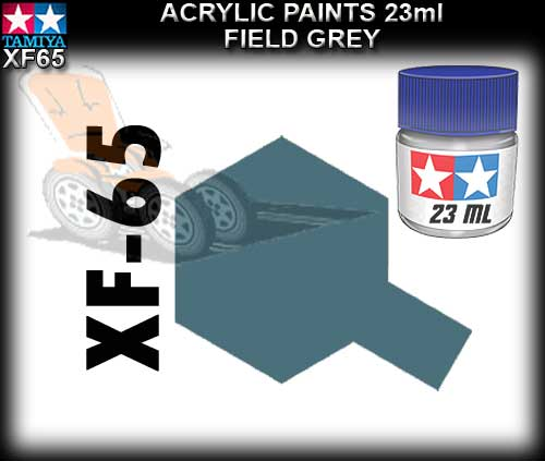 TAMIYA PAINT ACRYLIC XF65 - 23ml Field Grey Acrylic Paint