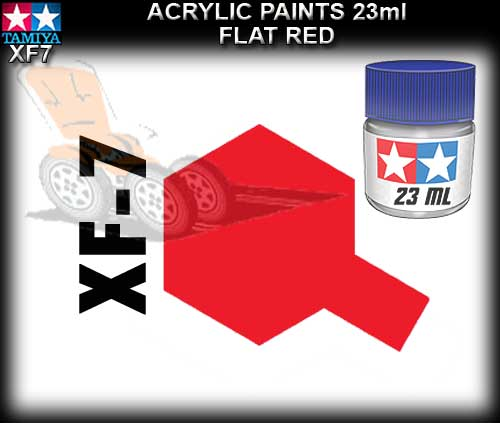 TAMIYA PAINT ACRYLIC XF7 - 23ml Flat Red Acrylic Paint