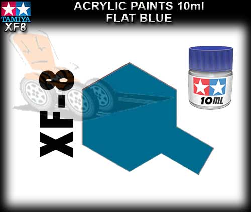 TAMIYA PAINT ACRYLIC XF8 - 10ml Flat Blue Acrylic Paint