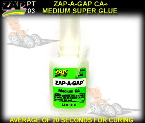 ZAP PT03 - SUPER GLUE ZAP A GAP CA+ 1/2oz