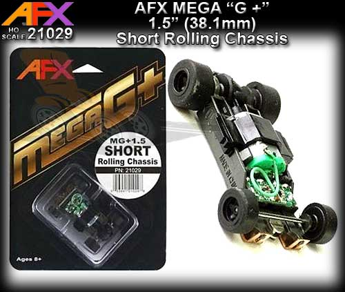 "AFX 21029 - MEGA G+ Short Rolling Chassis - for 1.5"" wheelbase"