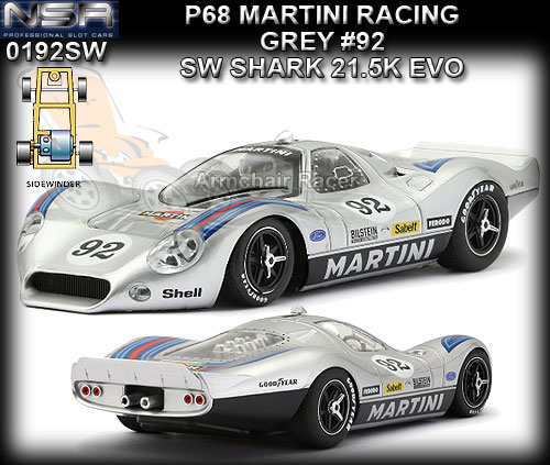 NSR 0192SW - Ford P68 - Martini Racing #92 (silver)