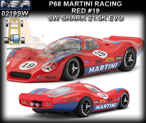 NSR 0219SW - Ford P68 - Martini Racing #19 (red)