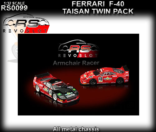 REVO SLOT RS0099 - Ferrari F40 - twin pack #34 & #40